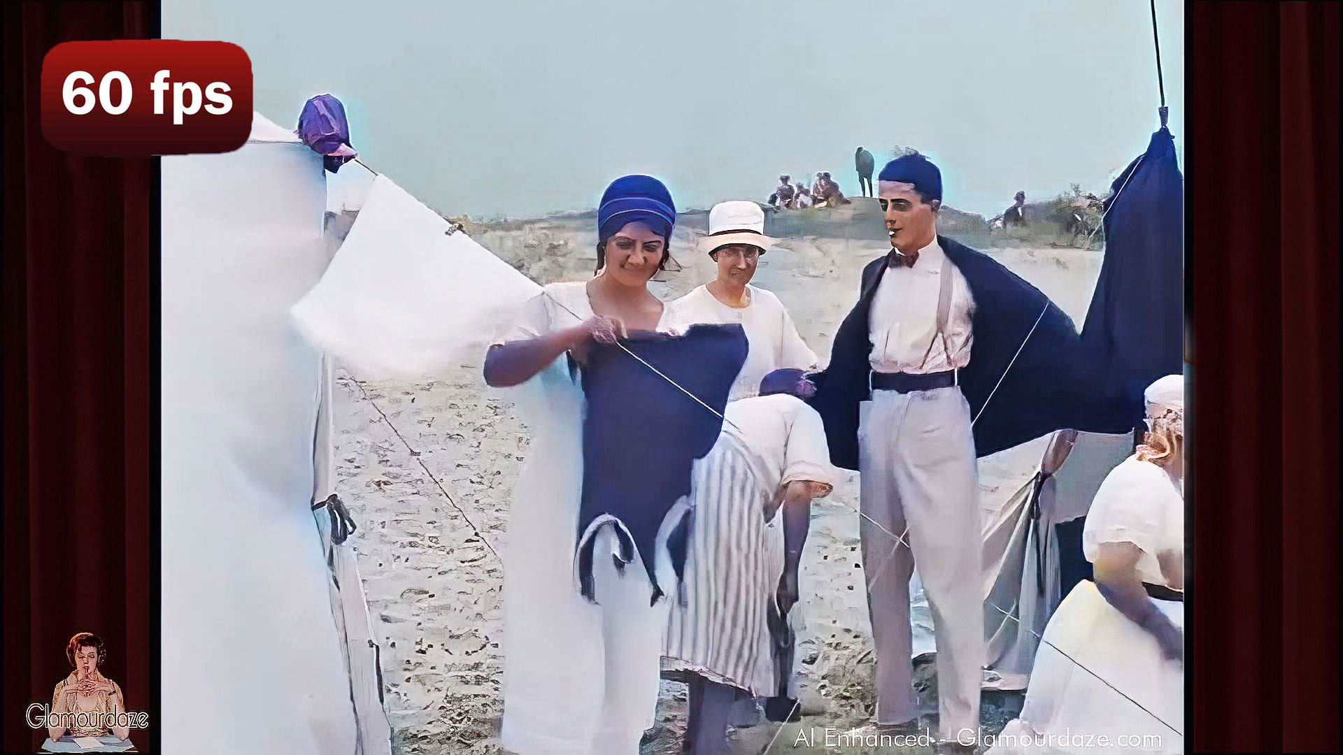 A Day at the beach in 1921