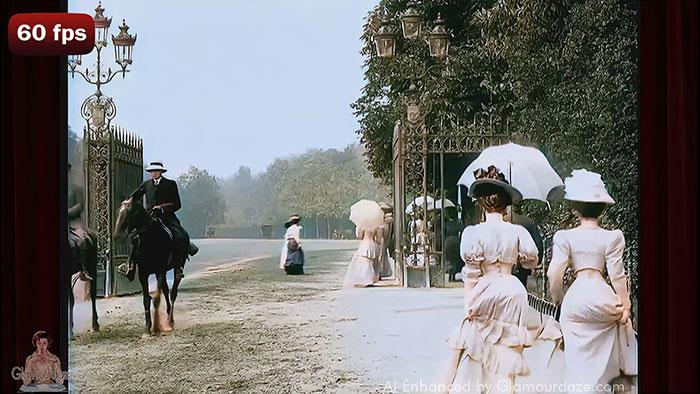 A Walk in the Bois de Boulogne Paris c.1900